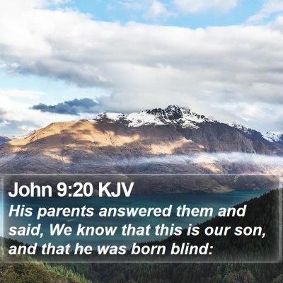 John 9:20 KJV Bible Verse Image