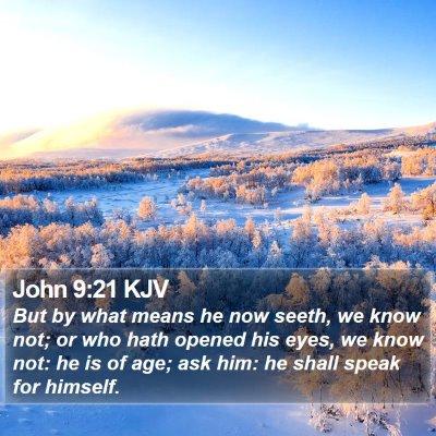 John 9:21 KJV Bible Verse Image