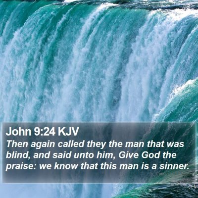 John 9:24 KJV Bible Verse Image