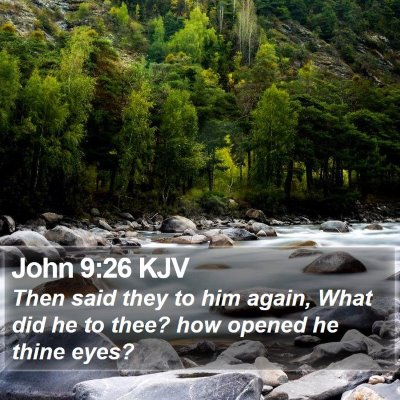John 9:26 KJV Bible Verse Image