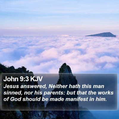 John 9:3 KJV Bible Verse Image