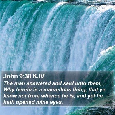 John 9:30 KJV Bible Verse Image