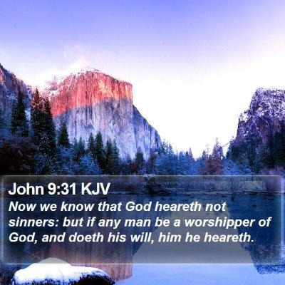 John 9:31 KJV Bible Verse Image