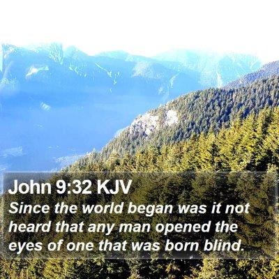 John 9:32 KJV Bible Verse Image