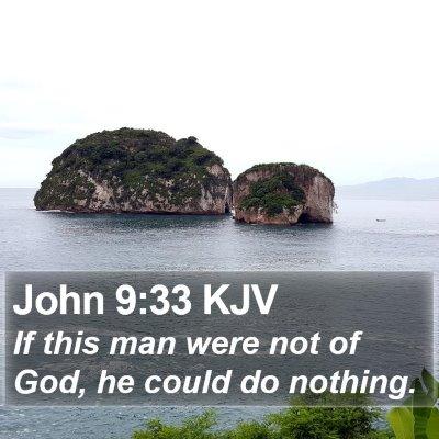 John 9:33 KJV Bible Verse Image