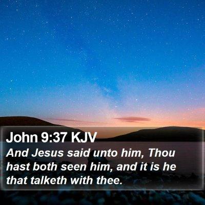 John 9:37 KJV Bible Verse Image