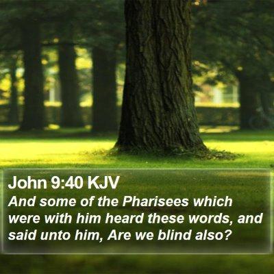 John 9:40 KJV Bible Verse Image