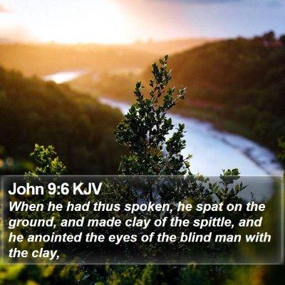John 9:6 KJV Bible Verse Image
