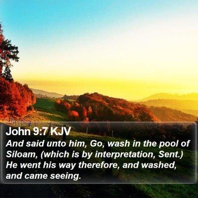 John 9:7 KJV Bible Verse Image