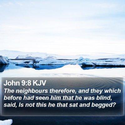 John 9:8 KJV Bible Verse Image