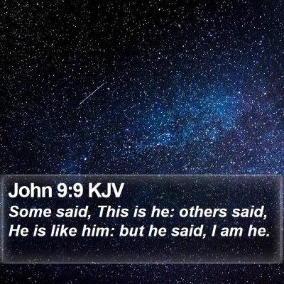 John 9:9 KJV Bible Verse Image