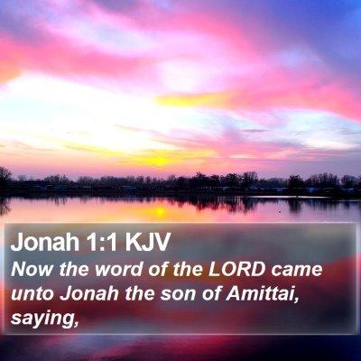Jonah 1:1 KJV Bible Verse Image