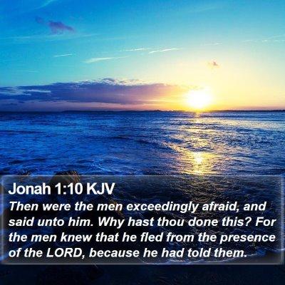 Jonah 1:10 KJV Bible Verse Image