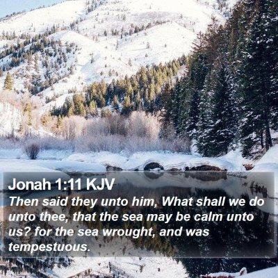 Jonah 1:11 KJV Bible Verse Image