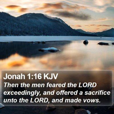 Jonah 1:16 KJV Bible Verse Image