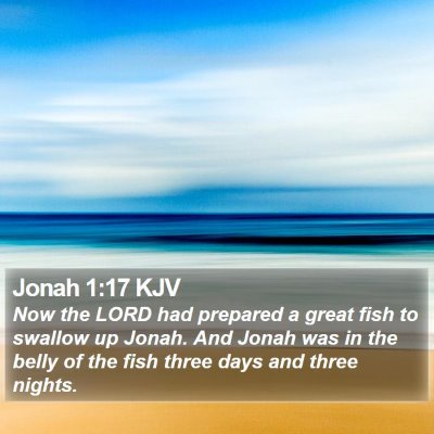 Jonah 1:17 KJV Bible Verse Image