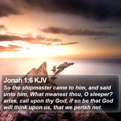 Jonah 1:6 KJV Bible Verse Image