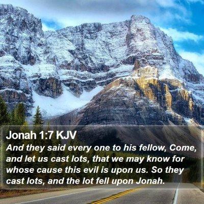 Jonah 1:7 KJV Bible Verse Image
