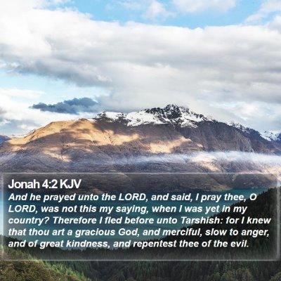 Jonah 4:2 KJV Bible Verse Image