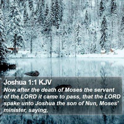 Joshua 1:1 KJV Bible Verse Image