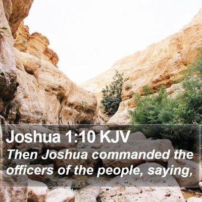 Joshua 1:10 KJV Bible Verse Image