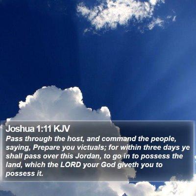 Joshua 1:11 KJV Bible Verse Image