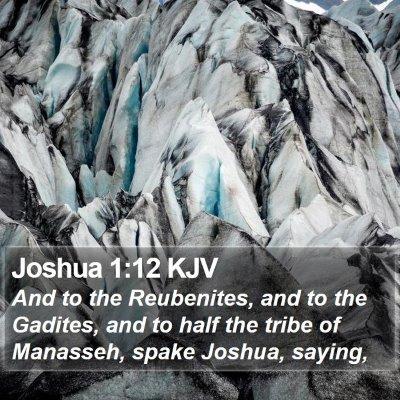 Joshua 1:12 KJV Bible Verse Image