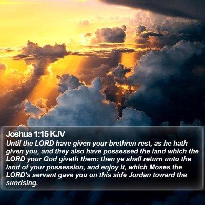 Joshua 1:15 KJV Bible Verse Image