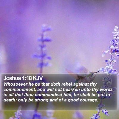 Joshua 1:18 KJV Bible Verse Image