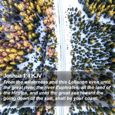 Joshua 1:4 KJV Bible Verse Image