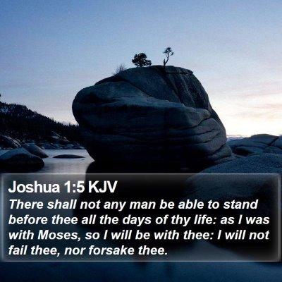 Joshua 1:5 KJV Bible Verse Image