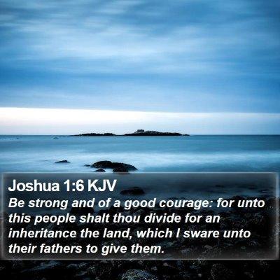 Joshua 1:6 KJV Bible Verse Image