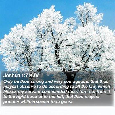 Joshua 1:7 KJV Bible Verse Image