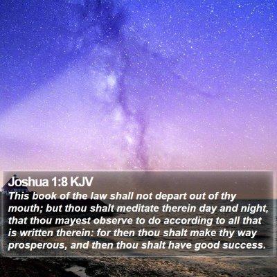 Joshua 1:8 KJV Bible Verse Image