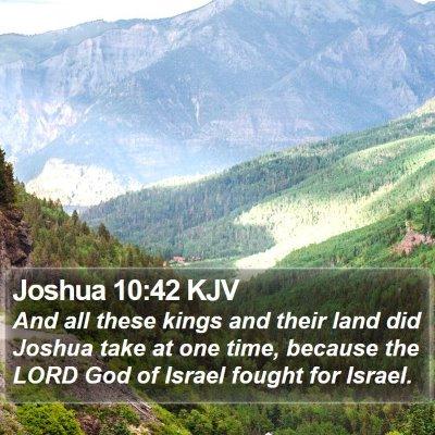 Joshua 10:42 KJV Bible Verse Image