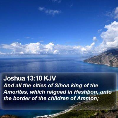 Joshua 13:10 KJV Bible Verse Image