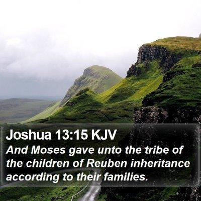 Joshua 13:15 KJV Bible Verse Image