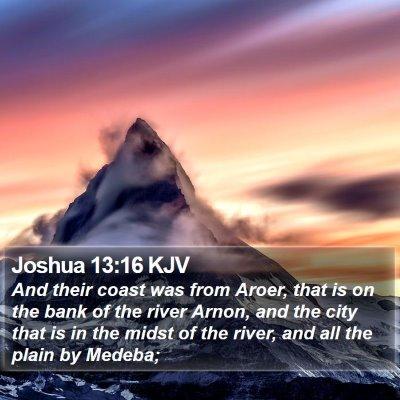 Joshua 13:16 KJV Bible Verse Image