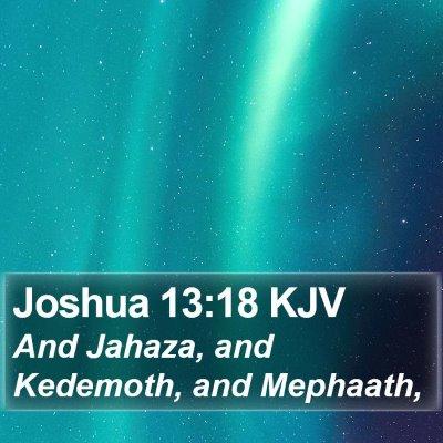 Joshua 13:18 KJV Bible Verse Image