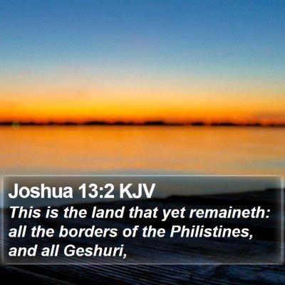 Joshua 13:2 KJV Bible Verse Image