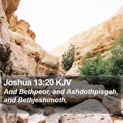 Joshua 13:20 KJV Bible Verse Image