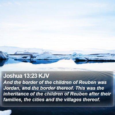 Joshua 13:23 KJV Bible Verse Image