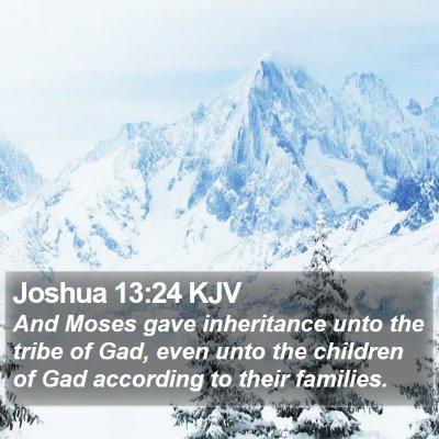 Joshua 13:24 KJV Bible Verse Image
