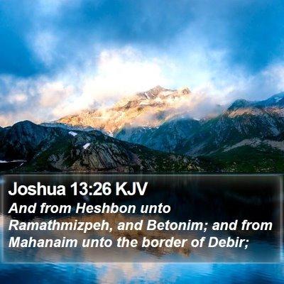 Joshua 13:26 KJV Bible Verse Image