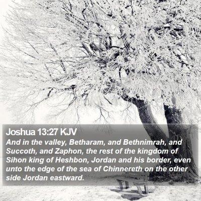 Joshua 13:27 KJV Bible Verse Image
