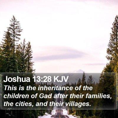 Joshua 13:28 KJV Bible Verse Image