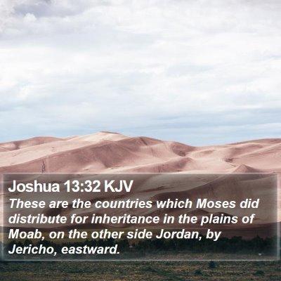 Joshua 13:32 KJV Bible Verse Image