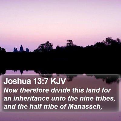 Joshua 13:7 KJV Bible Verse Image