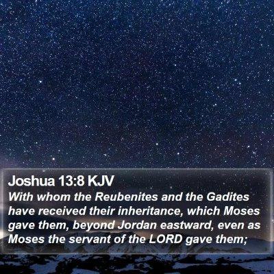 Joshua 13:8 KJV Bible Verse Image