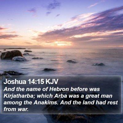 Joshua 14:15 KJV Bible Verse Image